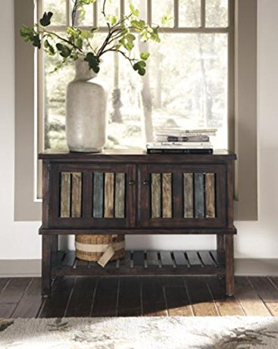 Ashley Furniture Signature Design - Mestler Console Table - Entertainment Center - Rustic Brown