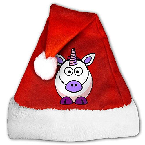 CYMO Cute Cartoon Unicorns Personality Print Christmas Hat