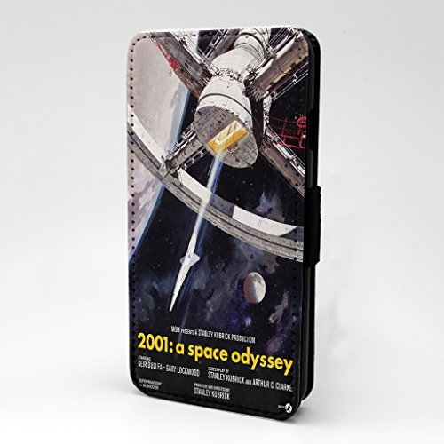 Movie Film Poster bedruckt Telefon Flip Case Hülle für Apple iPhone 7 & 7S - 2001 A Space Odyssee - s-t1370