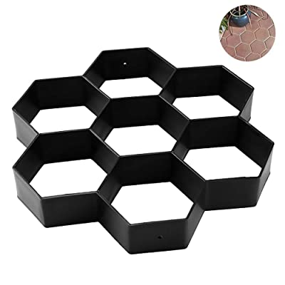 SUNJULY Walk Maker, Garden DIY Hexagon Concrete Path Maker Molds Stepping Stone Paver, Pathmate Stone Moldings for Lawn Patio Yard Reusable Walkway Pavement Paving Moulds - 11.7911.791.57in : Garden & Outdoor