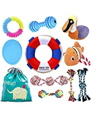 URYOUNGER Puppy Toys – 10 Pack Dog Toys with Durable Dog Teething Chew Toys, Dog Rope Toys and Dog Squeaky Toys for Small Dogs, Puppies of Medium and Large Dogs