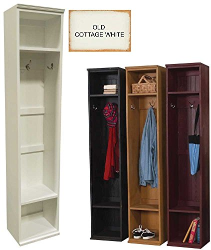 Wood Entryway Locker (Old - Cottage White) by Sawdust City