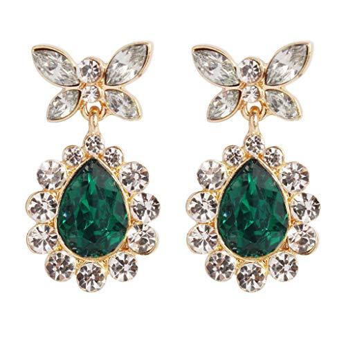 Earrings Dangle Basket (callm Woman Girl Earrings, 2019 Hot New Fashion Cubic Zirconia Wedding Teardrop Tone Dangle Earrings)
