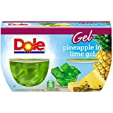 Dole Fruit Bowls, Pineapple in Lime Gel, 4.3 Ounce (Pack of4)