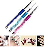 detailed Frcolor 3pcs Nail Art Brush Pen Nail Polish Liner Detailer Striper Dotting Painting Drawing Tool