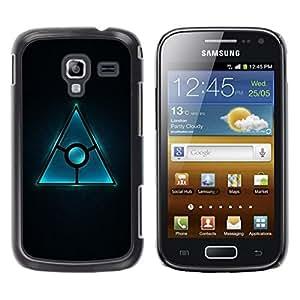 Be Good Phone Accessory // Dura Cáscara cubierta Protectora Caso Carcasa Funda de Protección para Samsung Galaxy Ace 2 I8160 Ace II X S7560M // Triangle Design