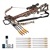 SA Sports 330 FPS Crusader Compound Crossbow (Camo, 547) Archer's Bundle with 12 Extra Arrows