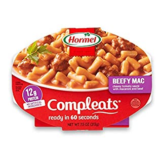 Hormel Compleats Beefy Mac & Cheese, 7.5 Ounce (Pack of 7)