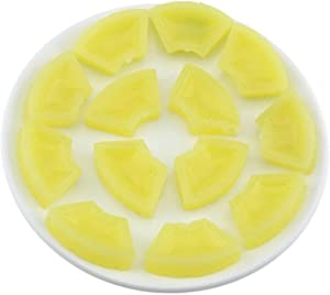 Gresorth 15 PCS Artificial Pineapple Slice Fake Fruit Slices Decoration Photography Props