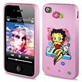 Reiko Betty Boop 3D Premium Durable Designed Hard Protective Case for iPhone 4G/4S - Retail Packaging - Light Pink