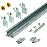 Slide-Co 161792 Bi-Pass Closet Track Kit (2 Door Hardware Pack), 60''