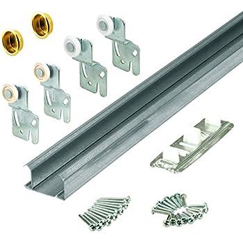 garage door track kitAmazoncom 100PD Commercial Grade Pocket  Sliding Door Hardware