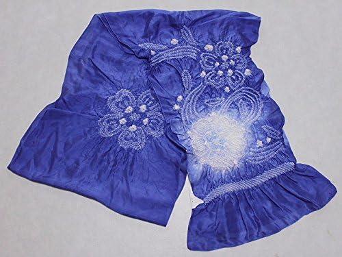 正絹兵児帯 青系色の帯 絹のへこ帯 浴衣用 七五三用 ちょっぴり理由あり D0608-08