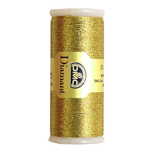 DMC Diamant Metallic Needlework Thread, 38.2-Yard, Dark Gold (010296)