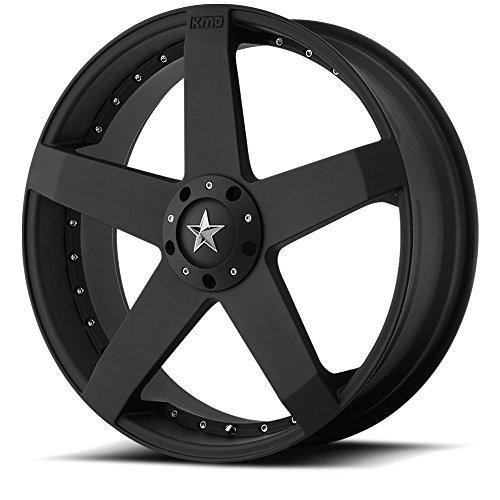 20 Inch 20×8 KMC wheels ROCKSTAR CAR Matte Black wheels rims