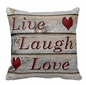 Pillowcases Blood redLive Laugh Love 18x18(inches)