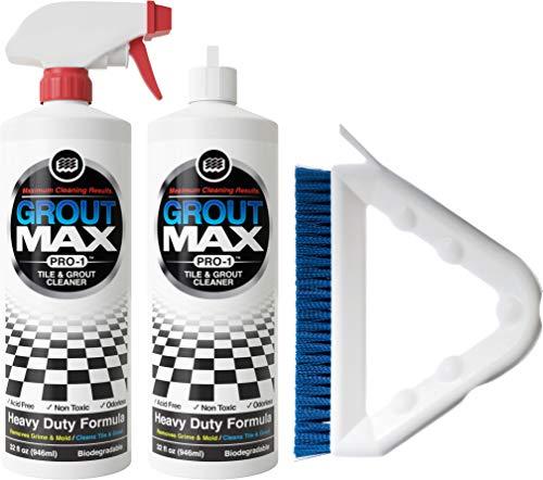 Poles Pole Foul (Maximum Cleaning Results. Grout Max Pro-1 Tile & Grout Cleaner - 2 PK (32oz) bottles Plus Bonus 9