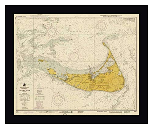 Nautical Chart - Nantucket Island ca. 1975 - Sepia Tinted by NOAA Historical Map-Chart - 23