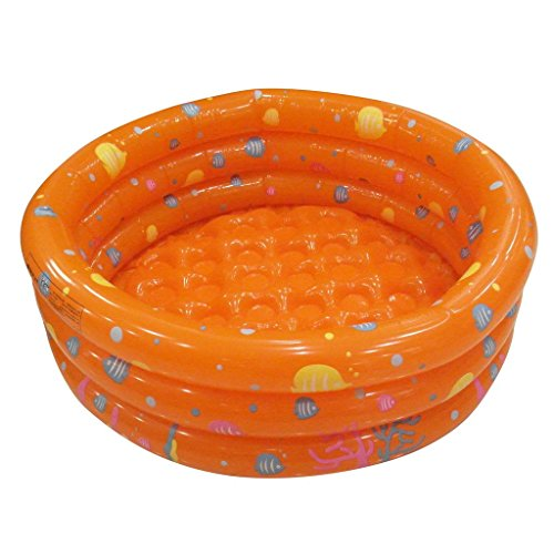 Activity Ball Pit (TrendBox Orange 80cm Inflatable Round Swimming Pool Ball Pit For Baby Children Kids Outdoor Indoor Activities Garden Parties (Ship From USA))