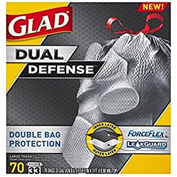 Glad ForceFlex X-Large Trash Bags - 70ct./ 33 gal. & Amazon.com: Glad ForceFlex Extra Strong Lawn and Leaf Drawstring ...