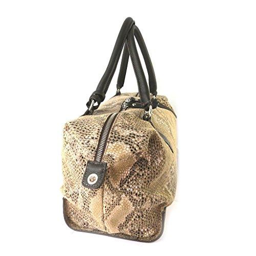 Bolsa De de Conti'camello Cuero Cm 34x23x15 'gianni Pitón O8rqOw1