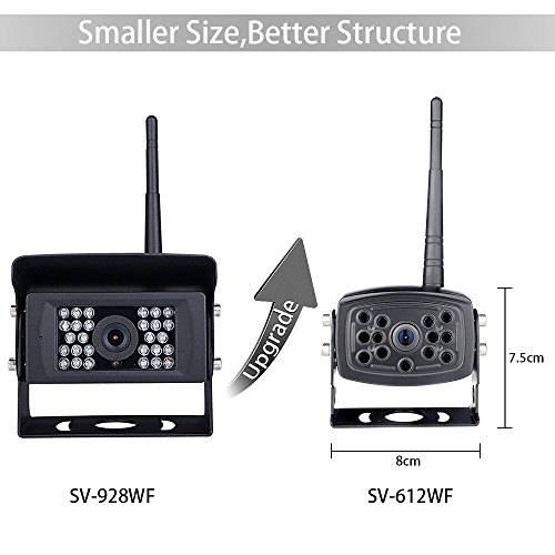 【2nd Generation】 SVTCAM SV-612W Wireless Backup Camera, Waterproof Night Vision Wireless Rear View Camera for Trucks/Trailers/Camper/5th Wheel. WiFi Backup Camera Works with iOS and Android Device by SVTCAM (Image #1)
