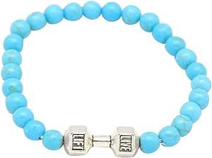 Bracelet Made Of Turquoise Stone By Live Lift, 14Cm, Unisex, Turquoise