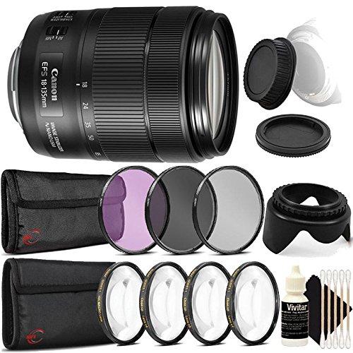 Canon EF - S 18 – 135 mm f / 3.5 – 5.6 is Nano USMレンズwith Accessoryバンドルfor DSLRカメラボディ   B076VQDN94