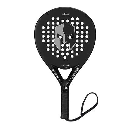 ianoni Pala de Pádel Raqueta para Pop Tenis Marco de Fibra de Carbono con Núcleo de EVA y Foam para Principiantes y Jugador de Nivel Medio (Modelo PR660): ...