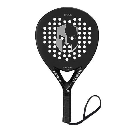 ianoni Pala de Pádel Raqueta para Pop Tenis Marco de Fibra de Carbono con Núcleo de