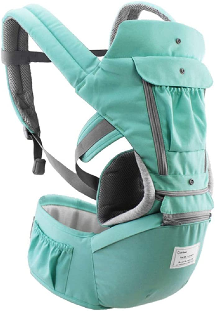 360° Ergonomic Baby Carrier for Newborn with Hip Seat Front and Back for All Seasons