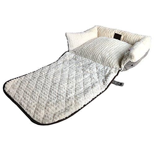 Huggsie Pets Premium Multifunction Orthopedic Memory Foam Pet Lounger Bed Dog Cat Pillow Matt Sofa Couch Cover