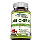 Pure Naturals Tart Cherry Extract 1200 mg, 120 Capsules -Supports Joint Mobility & Connective Tissues -Anti Oxidant & Anti Inflammatory Properties -Helps Maintain Healthy Uric Acid Levels Review