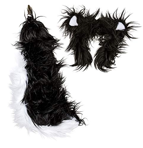 Skunk Costume For Adults (Wildlife Tree Plush Skunk Ears Headband and Tail Set for Skunk)