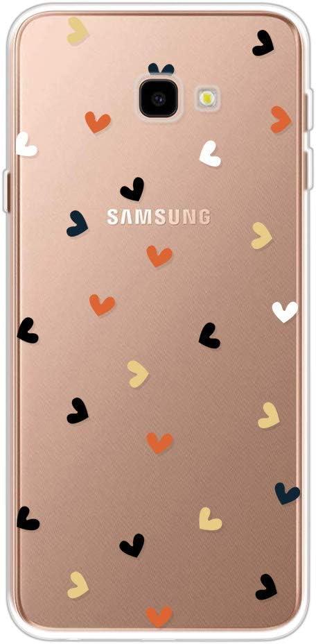 Miagon Clear Case for Samsung Galaxy J4 PLUS,Creative Cute Design Slim Soft Flexible TPU Back Cover Phone Case,Black Dot