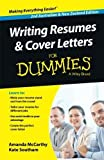 img - for Writing Resumes and Cover Letters For Dummies (For Dummies Series) Paperback July 1, 2014 book / textbook / text book
