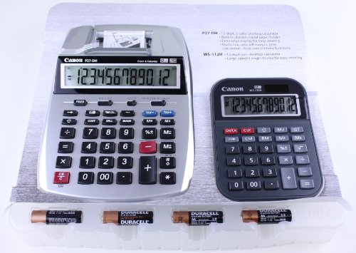 Canon 2-color Mini Desktop Printing Calculator and Desktop Calculator