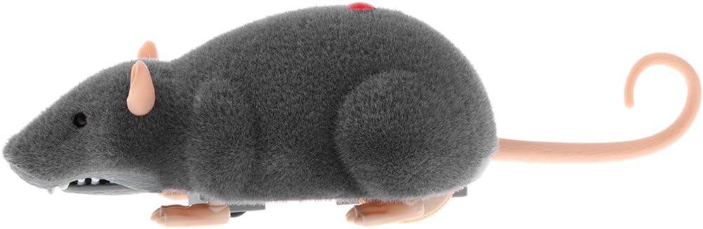 IPOTCH Ratón Electrónico con Control Remoto Inalámbrico Pocket Toy para Mascotas Gatos Perros Divertido con Dueños al Aire Libre - Gris