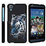 MINITURTLE Case Compatible w/ Miniturtle [HTC Desire 626 Case, Desire 626s Cover, 650 Black Case][Snap Shell] 2 Piece Design Case, Perfect Fit Hard Protector White Tiger