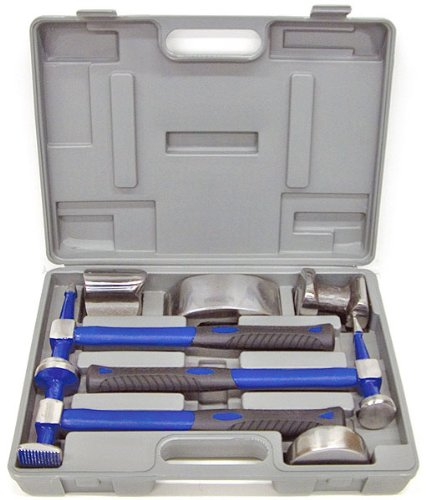 Eastwood 7 Pieces Body & Fender Set Auto Body Repair Tools Fender Tool Kit Hammer Dolly Dent Bender by Eastwood (Image #1)