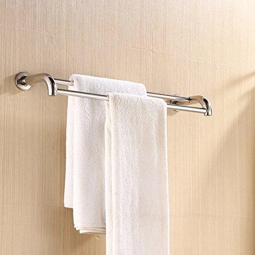 KHSKX Stainless steel bathroom Towel rack Towel Bar Towel rack bathroom shelf bathroom hardware accessories chic