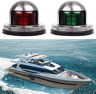 12V STAINLESS STEEL BOAT YACHT SIDE MOUNT LED NAVIGATION PORT /& STARBOARD LIGHTS