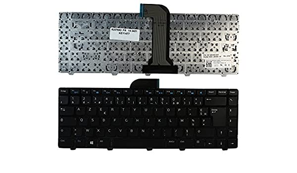 Keyboards4Laptops French Layout Glossy Black Frame Black Windows 8 Laptop Keyboard Compatible with Dell Vostro 2421