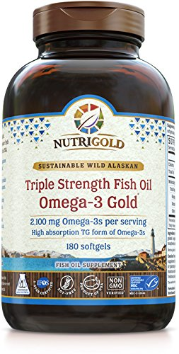 Nutrigold Strength Omega 3 Supplement Softgels product image