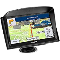 Car GPS navigation, 7-inch Bluetooth GPS capacitive touch screen + rear view reversing camera, 256GB RAM 8GB ROM, driving alarm, voice steering navigation, life-long map update,