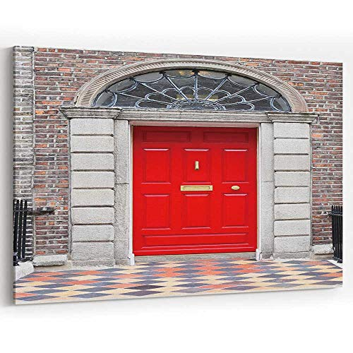 Residential Front Door of A Georgian House in Dublin Canvas Art Wall Dcor,Wall Art Canvas