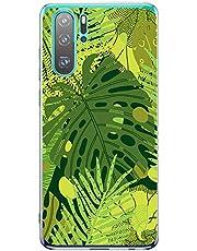 Oihxse Transparente Silicona Case Compatible con Motorola Moto G7 Power Funda Suave TPU Protección Carcasa Moda Dibujos Animados Divertida Diseño Ultra-Delgado Cubierta-Hojas