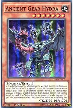 YuGiOh Ancient Gear Hydra SR03-EN002 SR 1st Ed 3 Card set Choose from Single