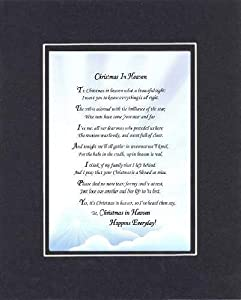 Amazon Com Poem For Bereavement Christmas In Heaven