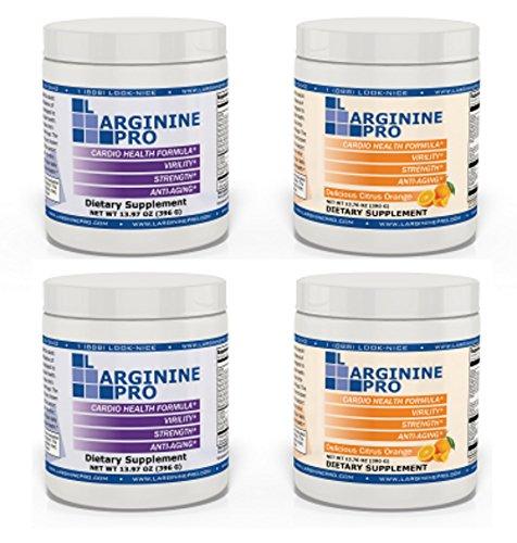 L-arginine Pro, #1 NOW L-arginine Supplement - 5,500mg of L-arginine PLUS 1,100mg L-Citrulline + Vitamins & Minerals for Cardio Health, Blood Pressure, Cholesterol, Energy (Berry & Orange, 4 Jars) by L-arginine Pro (Image #7)